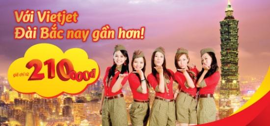Với Vietjet Đài Bắc nay gần hơn! VietJet Air khuyến mãi
