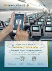 Đã có wifi phục vụ trên các chuyến bay của Vietnam Airlines Đã có wifi phục vụ trên các chuyến bay của Vietnam Airlines