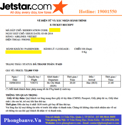 Điều kiện sử dụng vé Jetstar Điều kiện sử dụng vé Jetstar